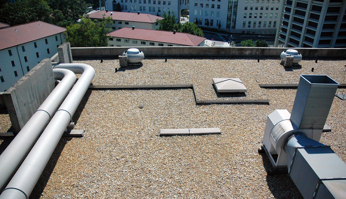 Emory University Hospital Ballasted Single-Ply Roof