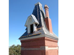 Architectural column roof restoration