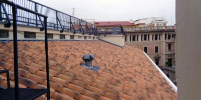 Clay tile historic roofing restoration